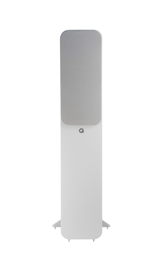 Q Acoustics 3050i white grille straight