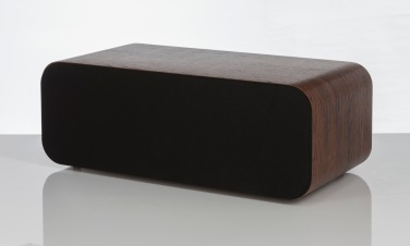 Q Acoustics 3090Ci walnut angled with grille